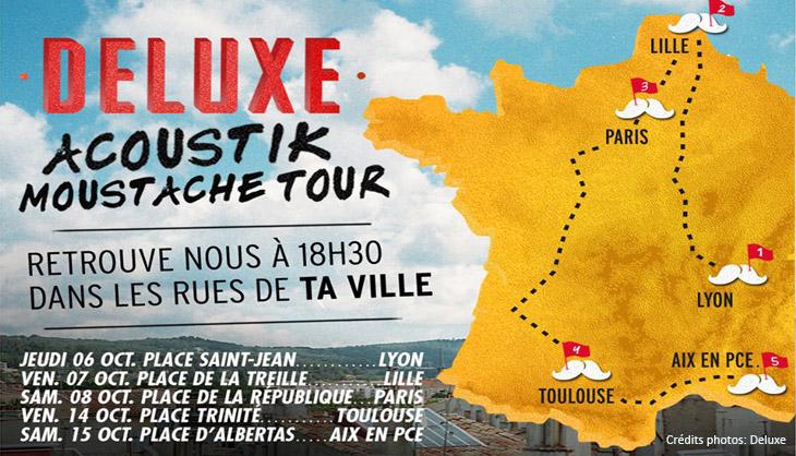 Deluxe en concert acoustique à Lille, Treille, vendredi 7 octobre