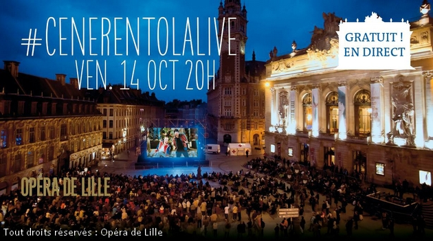 Cenerentola live opéra Lille