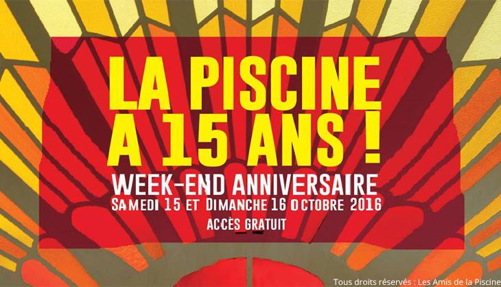 Affiche du Week-End des 15 ans du Musée de La Piscine de Roubaix