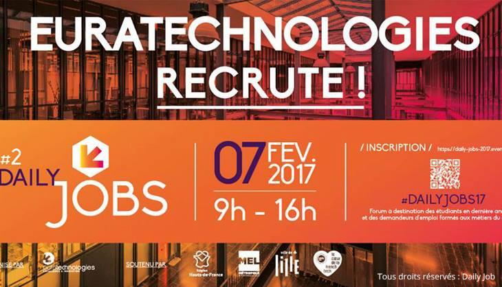 Daily Jobs EuraTechnologies emploi étudiant numérique digital