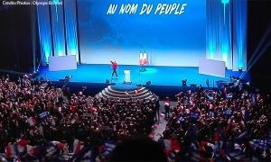 Marine Le Pen FN meeting Lille manifestation élection présidentielle