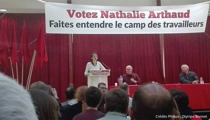 Arthaud élections présidentielles travailleurs lutte ouvrière gauche meeting Lille