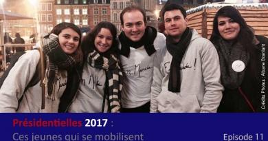 En Marche militant politique élection 2017 président Emmanuel Macron