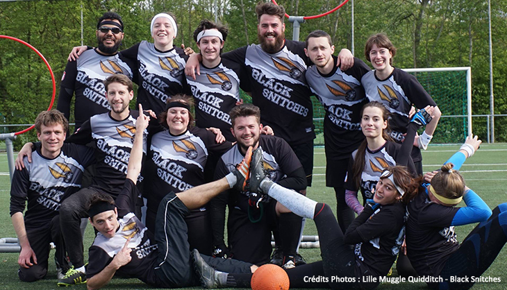 Quidditch Moldu Black Snitches Harry Potter Sport Lille 2017
