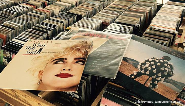 bon plan retro vinyles CD bouquinerie Sart ancien pop musique variete rock