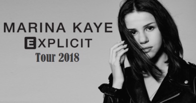 Marina Kaye Explicit Tour Music Pop Chanson Live Tour Concert
